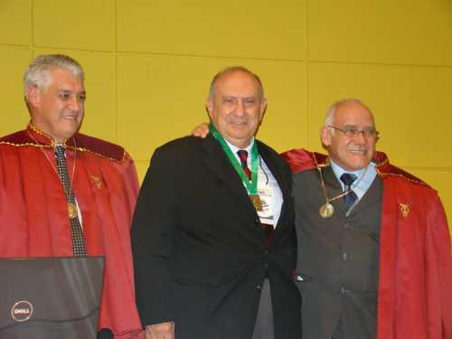 Sérgio de Iudibicibus com Acadêmicos Vicente Pacheco (esquerda) e Moacir Carlos Baggio (direita)